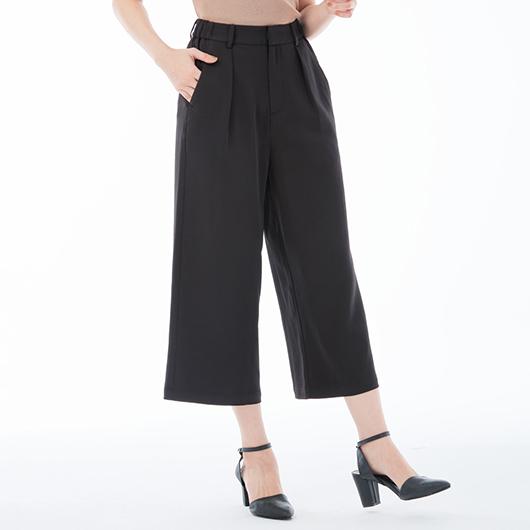101原創-時髦百搭輕柔質感雪紡八分寬褲