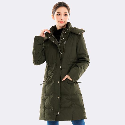 極暖率性長版連帽羽絨外套-S.M.L.XL.XXL
