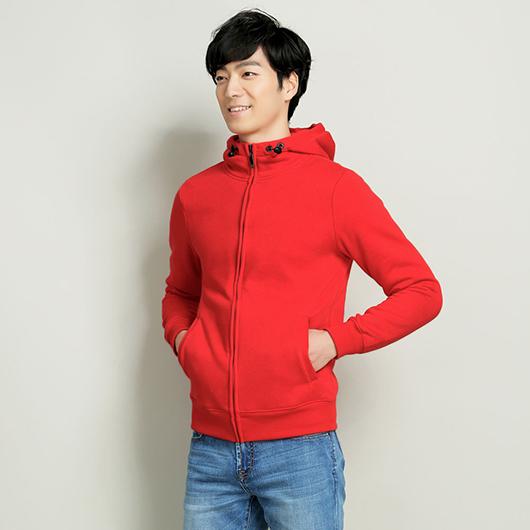素色刷毛連帽外套-S.M.L.XL.XXL