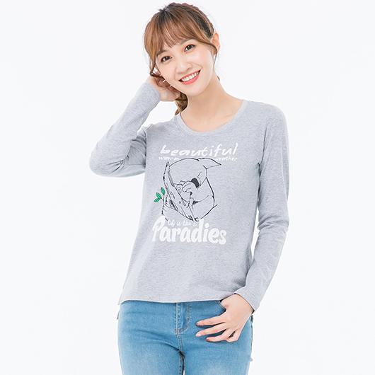 長袖T恤Paradise女-S.M.L.XL