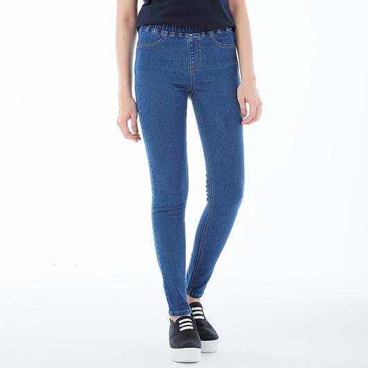 基本修飾牛仔彈性美型褲-女-S.M.L.XL.XXL