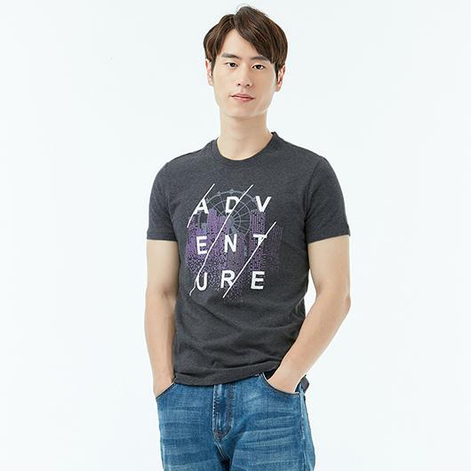 短袖T恤-冒險城市-XS.S.M.L.XL