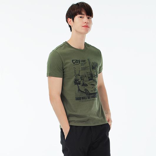 短袖T恤-悠閒的-XS.S.M.L.XL