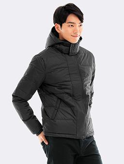 極暖風衣羽絨夾克-S.M.L.XL-鐵灰