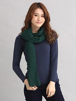 基本必備毛織圍巾-綠