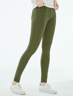 7新彈力口袋美型褲女-S.M.L.XL-軍綠