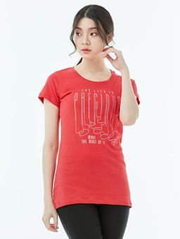長版T恤PRECIOUS女-S.M.L.XL-紅