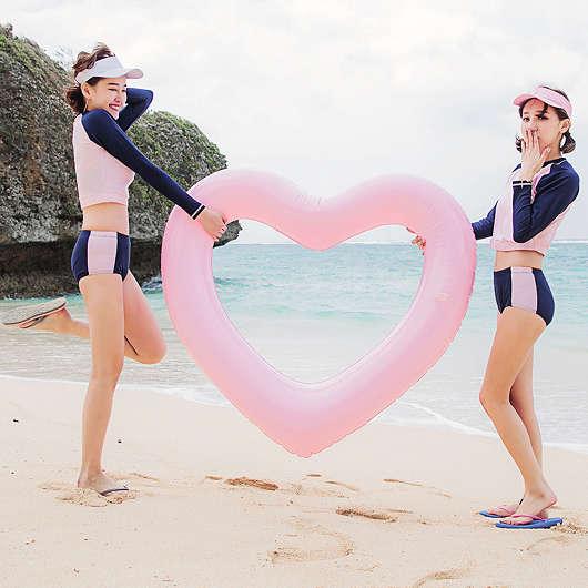 韓國同步運動風撞色泳褲