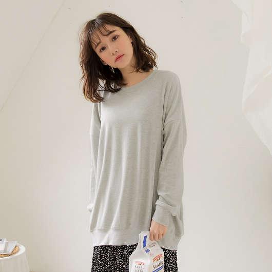 tokichoi -懶女必敗寬鬆棉質長版衛衣