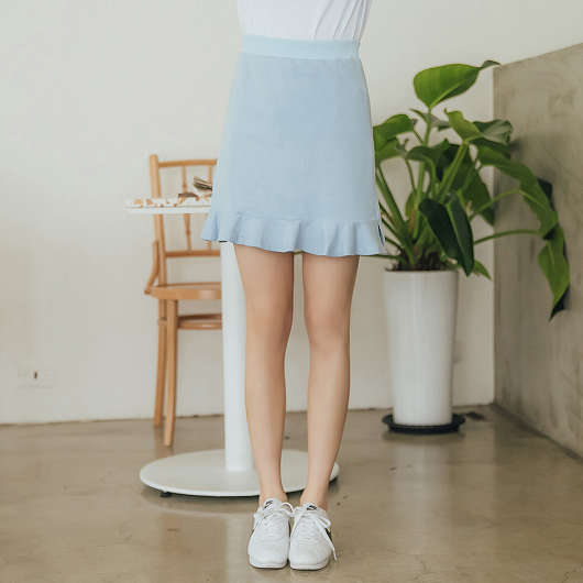 tokichoi -sport girl鬆緊腰頭荷葉棉質短裙