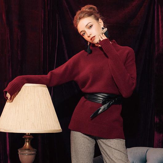 溫熱系-歐美質感設計針織上衣