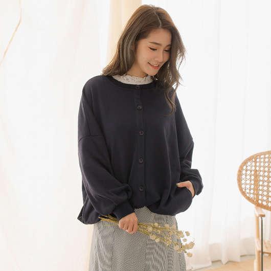 tokichoi -無印簡約棉質澎袖棒球外套