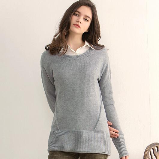 溫熱系-歐美慵懶舒適羊毛針織設計上衣