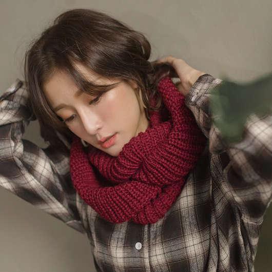 暖暖超Q百搭多色針織圍脖