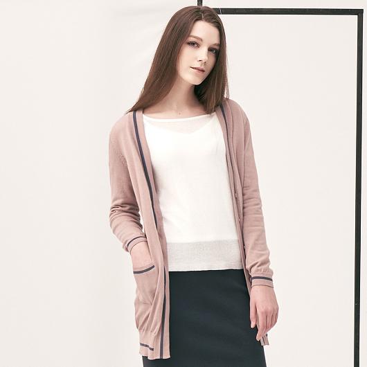 百搭線條織紋設計針織外套