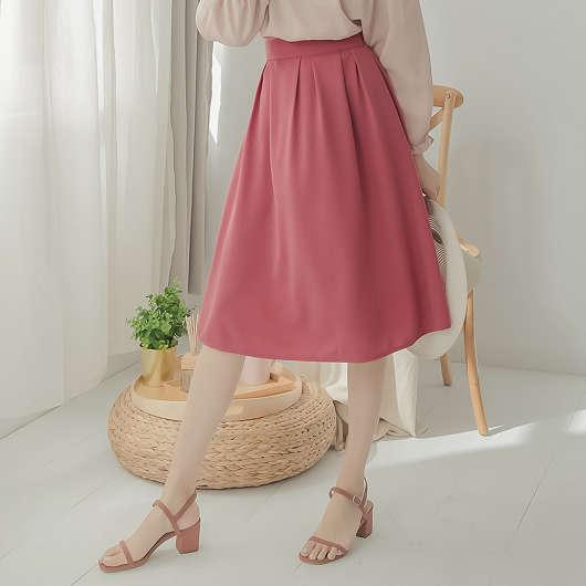 tokichoi-百搭舒適打摺設計多色中長裙