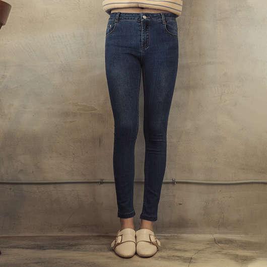 完美比例超強彈力多色修身牛仔褲