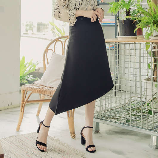 tokichoi-簡約優雅不規則長裙