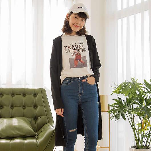 tokichoi -品牌嚴選雙口袋連帽澎袖罩衫外套