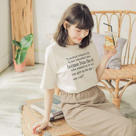 tokichoi-人手一件多色休閒印字棉質T恤上衣