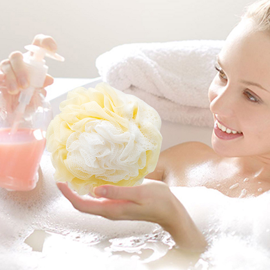 潔思淨 花型魔縐沐浴球顏色隨機