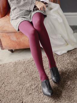 MIT多彩褲襪-酒紅