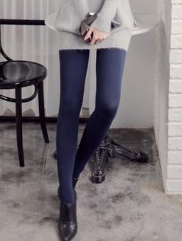 MIT多彩褲襪-深藍