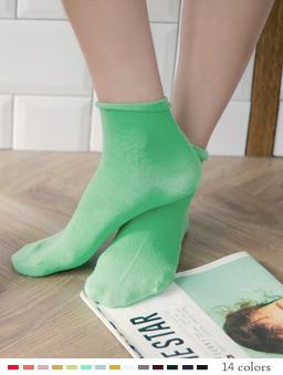 多色休閒百搭高筒襪-青綠