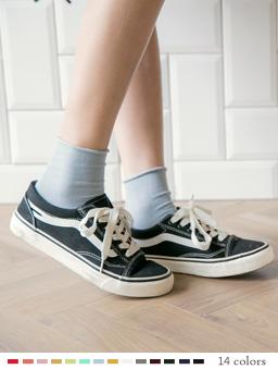 多色休閒百搭高筒襪-淺藍