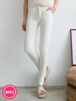 -3kg超彈力多色顯瘦美腿褲-白色