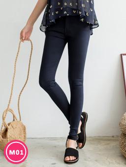 -3kg超彈力多色顯瘦美腿褲-深藍
