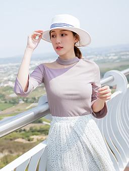 tokichoi-性感女神單肩簍空喇叭袖上衣-紫