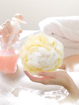 潔思淨 花型魔縐沐浴球顏色隨機-其他01