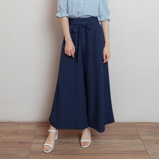 上班族最愛附綁帶挺版寬褲/長褲