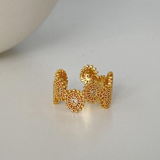 女王的榮耀幾何金屬環戒指