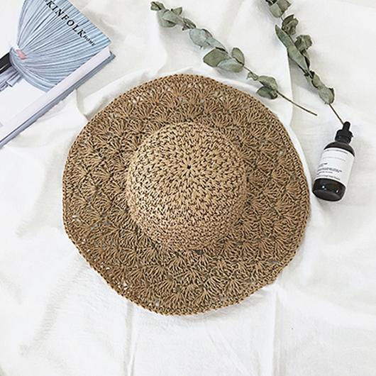 多色夏日度假編織草帽