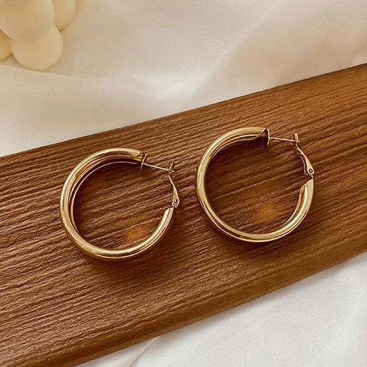 925銀針經典圓圈耳環