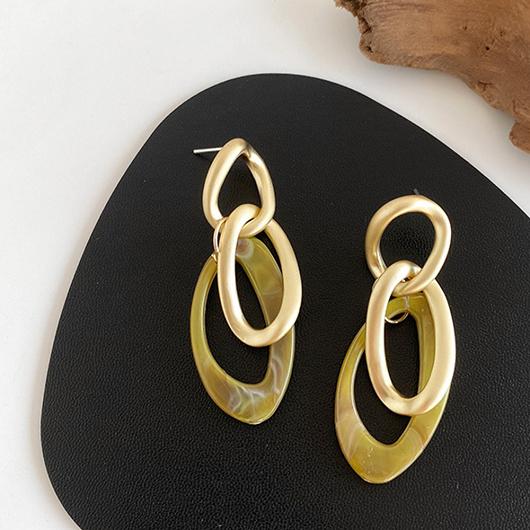 925銀針堆疊的光暈耳環