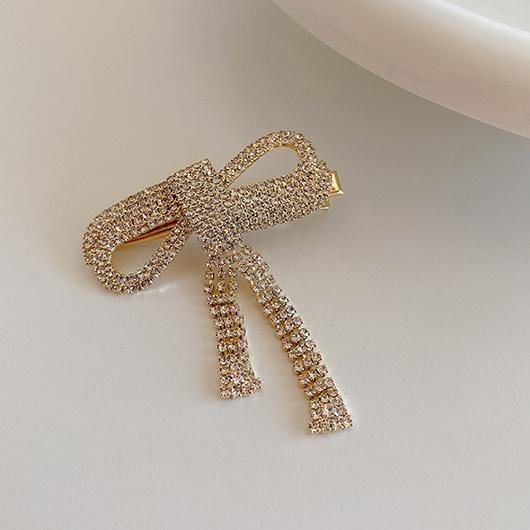 氣質鑽石蝴蝶結髮夾