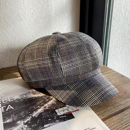 英倫格紋報童帽
