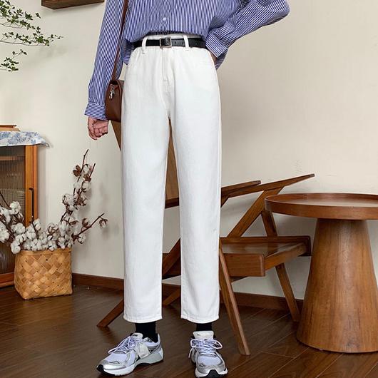 Basic純色百搭直筒褲