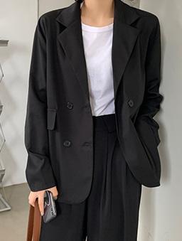 簡約時尚西裝外套-黑