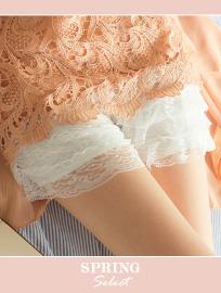 蛋糕蕾絲內搭短褲