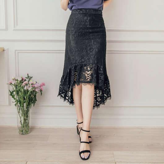 浪漫古典魚尾裙襬蕾絲長裙
