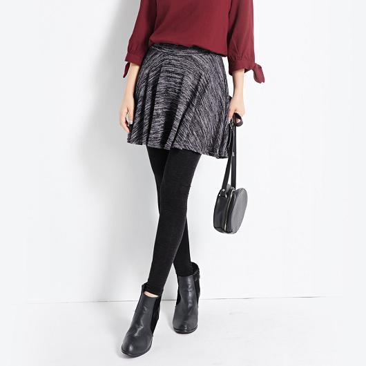 MIT混色短裙假兩件內搭褲