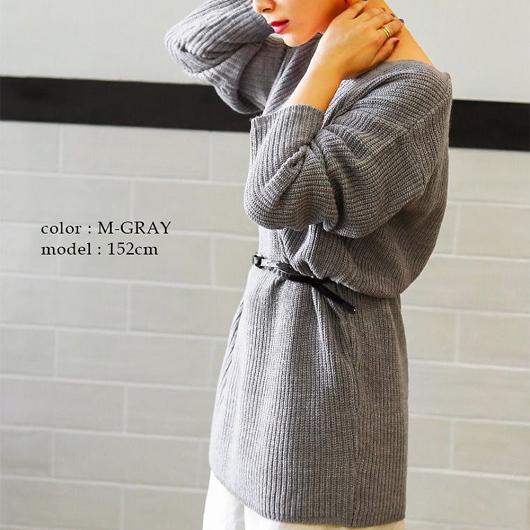 FashionLetter-多色舒適V領落肩針織上衣