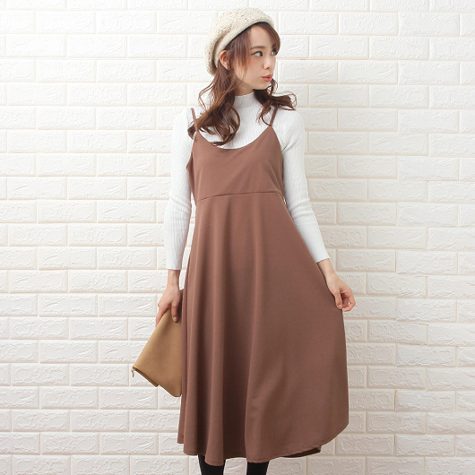 Grandeir-雪紡傘裙版型背心洋裝